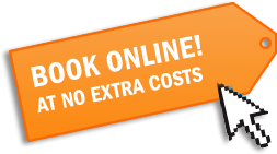 BOOK ONLINE! AT NO EXTRA COSTS